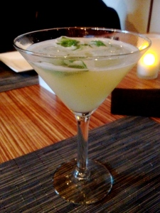 Honey Basil Martini