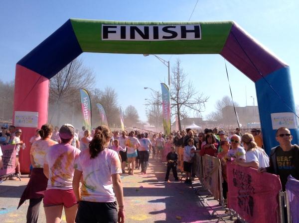 Color Me Rad Finish Line