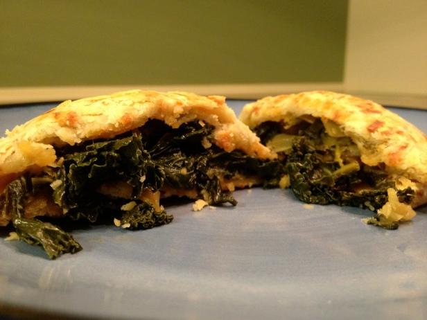 Kale and Mushroom Hand Pies