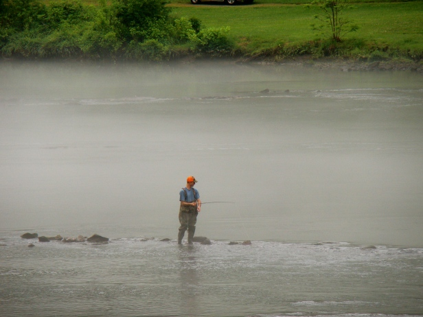 Fisherman on Hiwassee