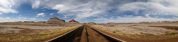 Painted Desert Tepees Panorama