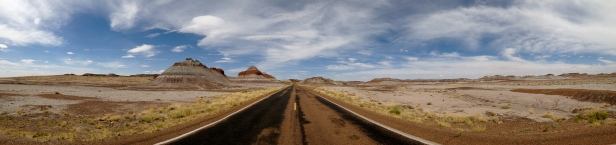 Painted Desert Tepees Panorama