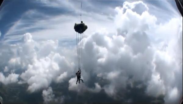 Parachute opening