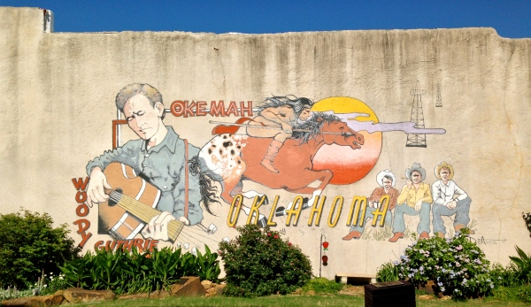 Woody Guthrie Mural