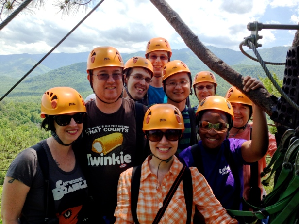 Ziplining Group Shot