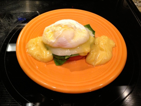 Finished Eggs Benedict