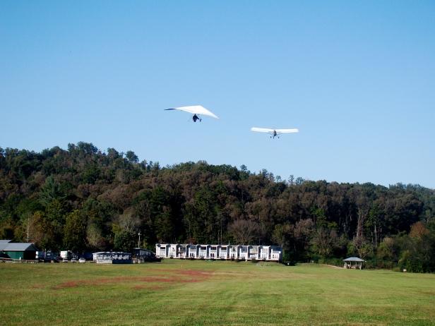 Hang Gliding Take Off