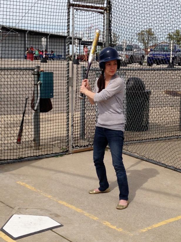 Hit first baseball