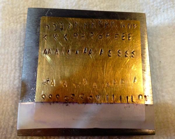 Metal Stamping Practice