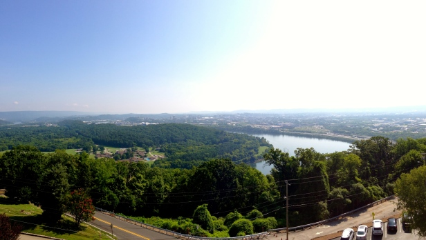 View from Ruby Falls