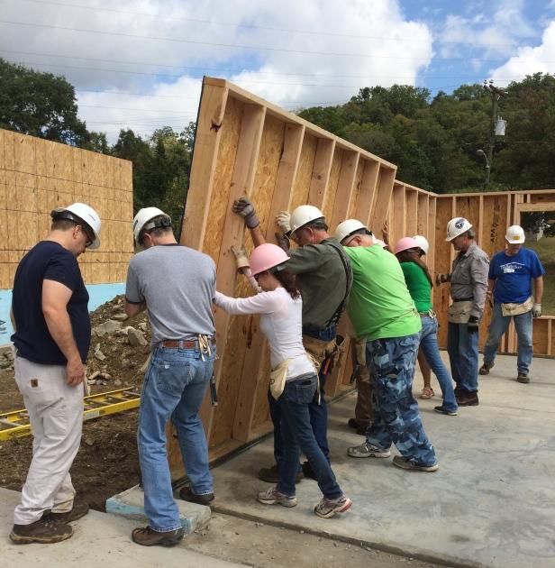 Habitat for Humanity Lifting a Wall