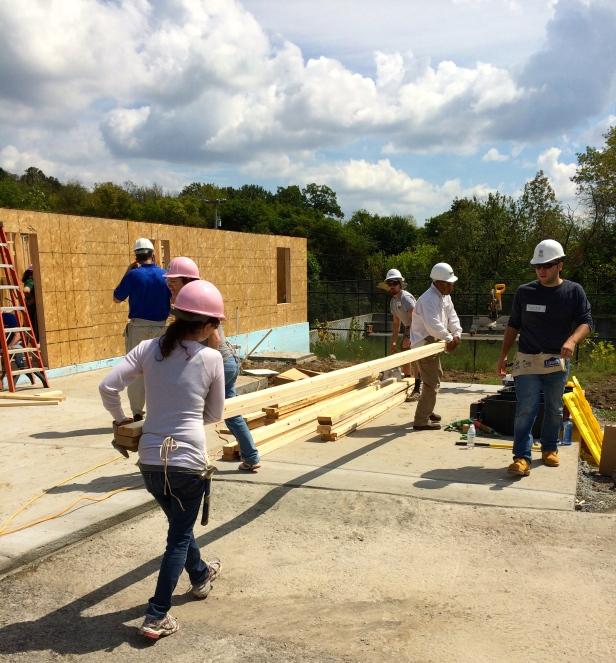 Habitat for Humanity Moving Wood