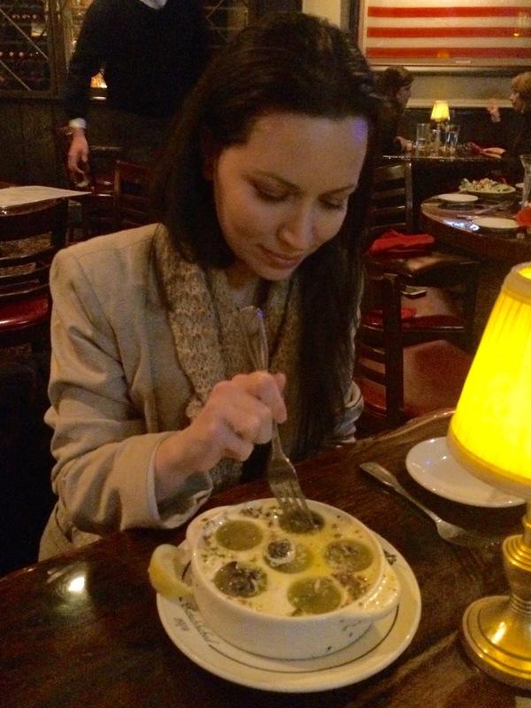 Eating Escargot