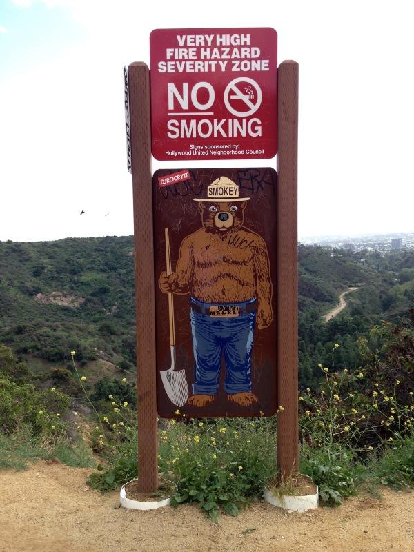 Holly Ridge Trail Smokey the Bear