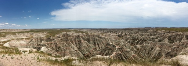 Big Badlands Overlook Panorama