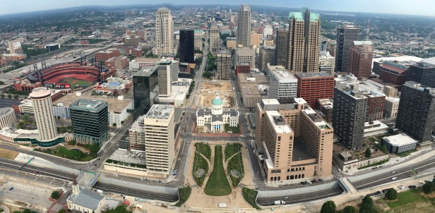 Panorama View From St. Louis Arch