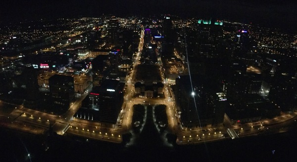 St. Louis Arch Night View Panorama