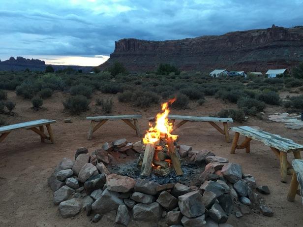 Moab Under Canvas Bonfire