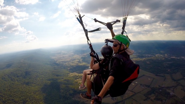 Paragliding in Dunlap Tennessee
